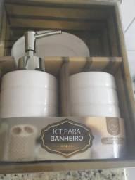 Kit lavabo em ceramica