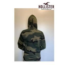 Moleton Hollister Militar(original - seminovo: usado 2x)
