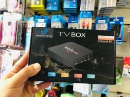 Tv Box 4k 4gb de RAM. 64gb de memória. Android 10.0 Promoção.