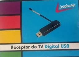 Receptor Tv Digital Usb Leadership Seminovo Na Caixa Completo