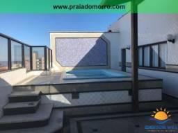 COBERTURA COM 6 QUARTOS, Churrasqueira, Piscina, Sauna, Praia do Morro TEMPORADA