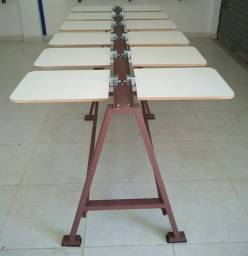 Silk screen mesa com 13 berços completa pronta para uso aceitamos cartão