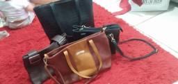 Bolsas de couro tamanhos variados