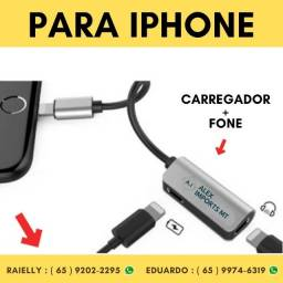 Adaptador iPhone 2x1 Lightning Carregador Audio E Microfone cuiaba
