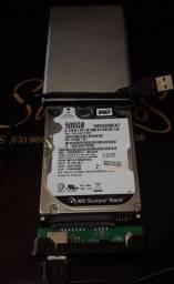 Hd Externo 500Gb Western Digital Scorpio Black com Garantia (Aceito Cartão)