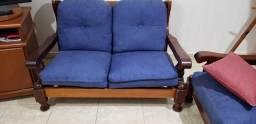Sofá de madeira 2 lugares