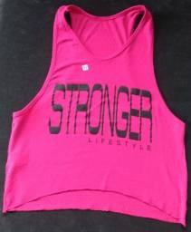 Cropped Regata camiseta Fitness Feminina