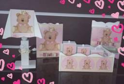 Kit Higiene Urso Rosa