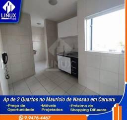 Alugo Apartamento de 02 Quartos no Maurício de Nassau prox. ao Difusora em Carauru