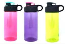 Garrafinha Squeeze Agua Suco Transparente, Garrafa D'água 473 ml