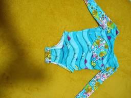 Maiô feminino tamanho 1 ano proteção UV