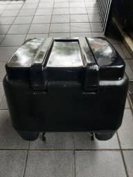 Caixa baú moto motoboy 80l protork com suporte