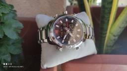 Relógio Masculino Naviforce Nf9193 Todo em Aço Digital e Analógico