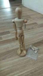 Boneco/Manequim para desenho em madeira articulado