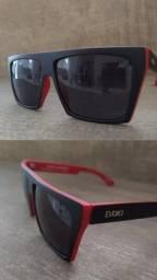 Óculos De Sol Evoke 15 Afroreggae Black Red