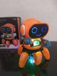 Robo aranha dançarino dançante divertido com luzes led e sons musicais brinquedo novo