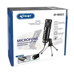 Microfone Condensador Usb Knup Kp-0023 Com Tripé, unico USB da OLX