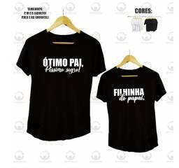 Camisetas Personalizadas (Dia dos Pais) Pai e Filho