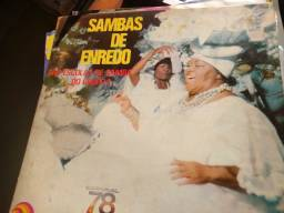 Lote 42 Discos de Vinil - Carnaval, Samba Enredo