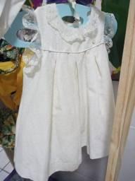 Vestido para Batizado tamanho 18 a 24 meses.