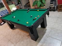 Mesa de Bilhar Charme Preta Tx Tecido Verde Modelo QWE0991