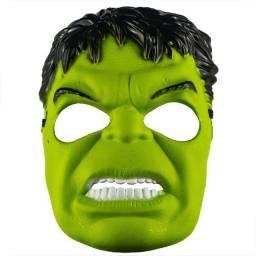 Máscara Do Hulk Plástico Super Herói Com Tira Ajustável