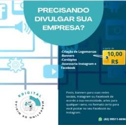 Marketing de mídias ( Artes digitais, logomarcas
