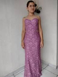 Vestido de Festa Tam 38 Rosa retrô
