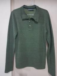Blusa de moletinho verde tam. P