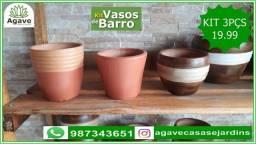 Vasos de barro para plantas