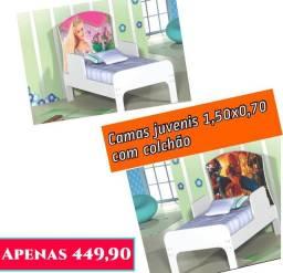 Cama infantil temas com colchão. Entrega e montagem grátis em Macaé.