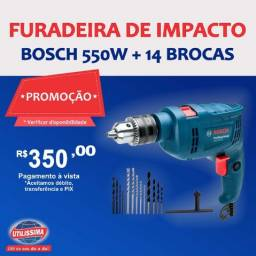 Furadeira de Impacto 550w GSB 550 RE + 14 Brocas