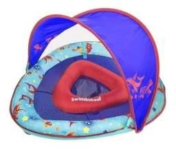 Boia Infantil Baby Boat Cobertura Retratil Azul