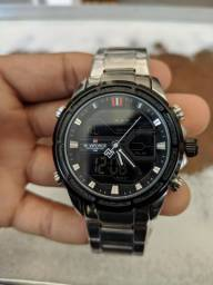 Relógio Analógico e Digital Prata Naviforce