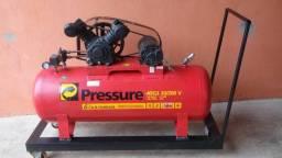 Compreensor Pressure/ 20 pés/ 200 litros/ 220 trifásico