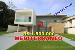 CONDOMÍNIO MEDITERRÂNEO - Casa Duplex com 4 suítes