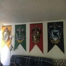 Bandeira das Casas de Hogwarts Harry Potter