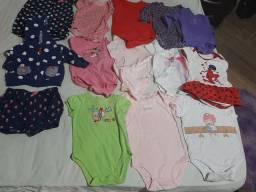 20 peça de roupinhas de bebê Consevado de menina