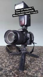 Promoção Câmera + Flash + Curso