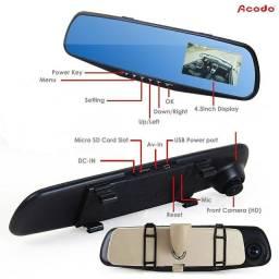 Dvr Hd 1080  Auto Espelho Retrovisor De Carro Câmeras