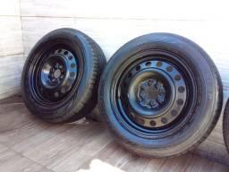 Jogo de rodas aro 15 c/pneus