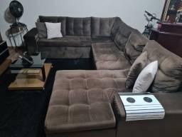 Vendo sofá em l muito grande