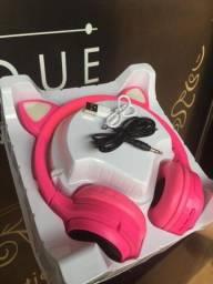 Fone game ear gatinho inova com Led <br><br>140.00<br><br><br><br>-