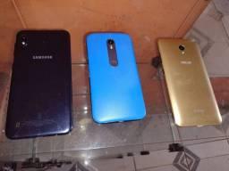 3 smartphones (celulares com defeito)