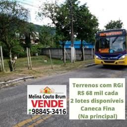 Vendo 2 lotes na principal da Caneca Fina-Guapimirim-RJ-Escutamos proposta