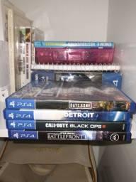 Jogos PS4 + controle