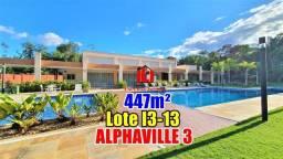 Lote quitado no Alphaville 3 Otima Localização 447m²