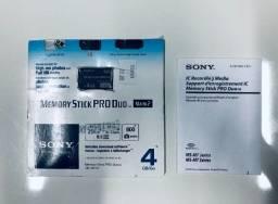 Cartão de Memória Sony 4 GB Original - Memory Stick Pro Duo.