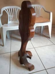 Escultura abstrata em jacarandá 70 cm
