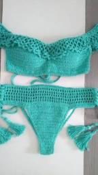 Peças feitas em crochê